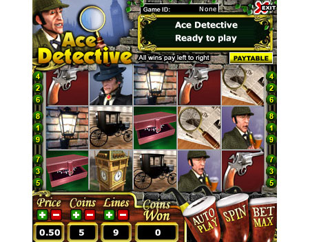 bingo cabin ace detective 5 reel online slots game