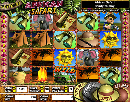 bingo cabin african safari 5 reel online slots game