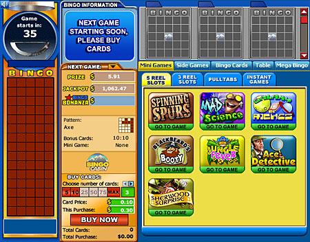 bingo cabin 75 ball online bingo game