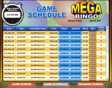 bingo cabin mega bingo online bingo game