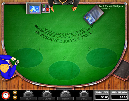 bingo cabin multi-player blackjack online casino game