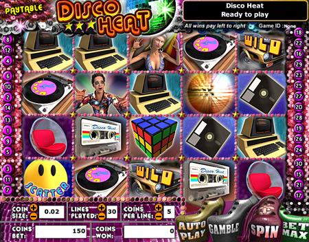 bingo cabin disco heat 5 reel online slots game