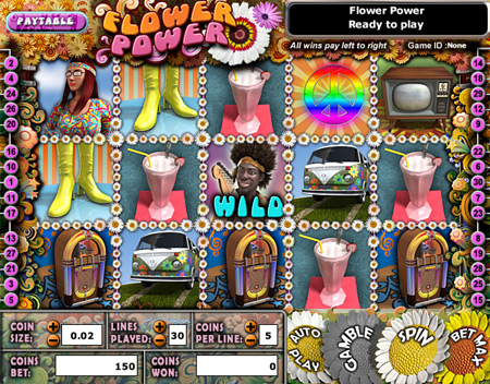 bingo cabin flower power 5 reel online slots game