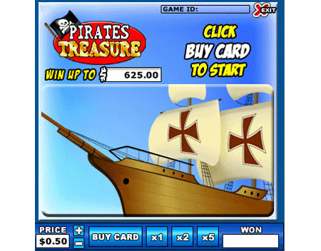 bingo cabin pirates treasure online instant win game
