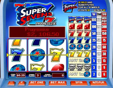 bingo cabin super sevens 3 reel online slots game