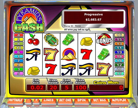 bingo cabin pyramids of cash 5 reel online slots game